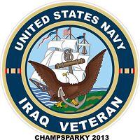 United States Navy IRAQ War Veteran Decal Bumper Sticker USA USN