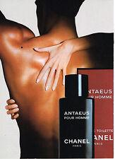 PUBLICITE ADVERTISING 014   1989    CHANEL  parfum ANTAEUS