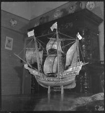 Maquette bateau voilier -  Ancien négatif photo an. 1940