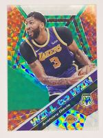Anthony Davis 2019-20 Panini Mosaic Will to Win Green Prizm Insert Lakers HOT🔥