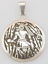 Navajo Handmade Sterling Silver Overlay Kachina Dancer Pendant