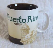 2013 Starbucks Global City Icon Series Puerto Rico Mug Palm Tree 16 oz Brown NEW