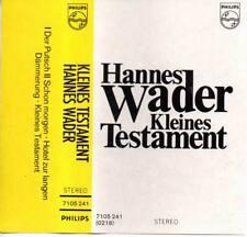 Hannes Wader Kleines Testament Musikkassette NEU MC Der Putsch 7105 241 Philips
