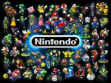 """NINTENDO SNES N64 3DS GAMECUBE VIDEO GAME 13""""X19"""" POSTER PRINT GAME ROOM #25"""