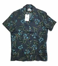 PS By Paul Smith Shirt Floral Print Casual Fit - Grey - Medium - RRP £125 - New
