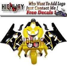 Plastic Yellow Black Fairings For Honda CBR400RR NC29 91-94 Fairing Kit Bodywork