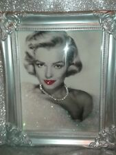Marilyn Monroe Glitter Canvas Picture in Shabby chic Frame