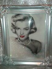 Marilyn Monroe Brillo Cuadro lienzo en marco Shabby Chic-Libre P&P
