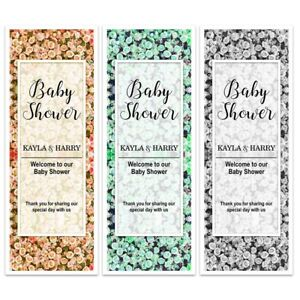 X 2 PERSONALISED BABY SHOWER FLORAL BANNERS BLOOM FLOWER WALL PARTY BACKDROP