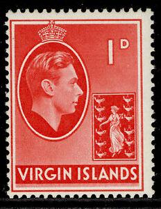 BRITISH VIRGIN ISLANDS GVI SG111a, 1d scarlet, LH MINT.