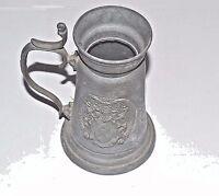 Rare Vintage pewter beer mug stein