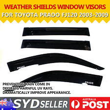 Car Weather Shields Wind Rain Deflector Window Visors For Prado FJ120 2003-2009