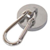 Magnet mit Karabiner Haken Neodym Rundmagnet Karabinerhaken Magnethaken