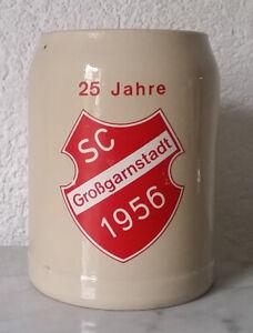 Bierkrug Krug Humpen Sammelkrug Keramik 0,5 Liter 25 Jahre SC Großgarnstadt 1956