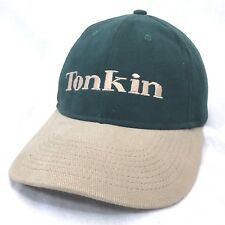 Tonkin Inc. Embroidered Snapback Baseball Cap Made in USA Green Hat Lid    c3