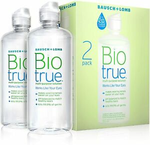 Bio True Multi Purpose Contact Lens Solution, Twin Pack, 2x10 Oz Expired