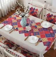 Bohemia flax tablecloth Dust Proof Table Cover For Kitchen Dinning Tabletop