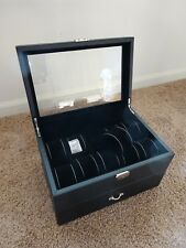 - imitation leather - see through top Watch Display for 20 Watches - lockable