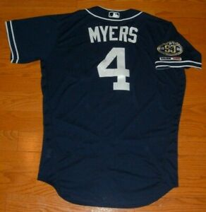 SAN DIEGO PADRES WIL MYERS GAME USED WORN 2019 ALTERNATE JERSEY (RAYS)