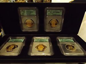 2007 Presidential/Sacagawea Proof Set -5 graded coins