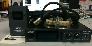 JTS SIEM-111 STEREO IN EAR MONITORING SYSTEM 638~662 MHZ EXCELLENT CONDITION