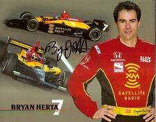 2004 BRYAN HERTA signed INDIANAPOLIS 500 HERO PHOTO CARD INDY CAR HONDA RACING