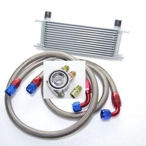 Universal Zusatz Ölkühler Set 13 Reihen inkl. Anschluss-Set mit Thermostat