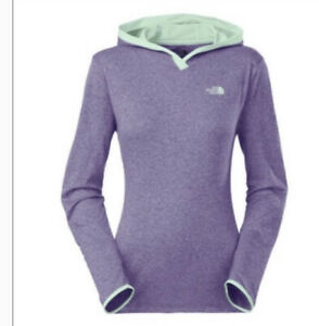 The North Face Women's Reactor Hoodie Purple/light green Lightweight, Size L NWT