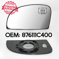 Left Side Door Wing Mirror Heated & Base Clip On Glass For Hyundai Getz