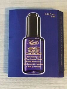 New Sealed Kiehl's Midnight Recovery Concentrate Elixir Oil Sample 4ml Cream