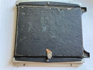 BJ Burke and James 4 x 5 Camera Back w Grid Ground Glass Frame Viewing Hood Good