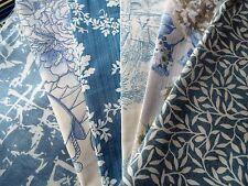 Français de LIN/TOILE DE JOUY/vintage Laura Ashley/Floral Bleu Tissu Bundle