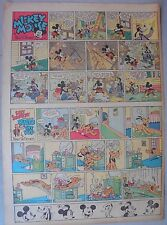 Mickey Mouse Sunday Page by Walt Disney from 5/28/1939 Tabloid Page Size