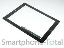 Ipad 3 4 Pantalla Táctil Digitalizador cristal + Adhesivo home button montado negro