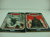 Lot Of 2 1982 STAR WARS The Empire Strikes Back Kenner Coloring Book YODA Unused
