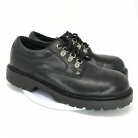 GBX Black Leather Oxford Mens Casual Shoes Lace Up Low Top Round Toe Size 11