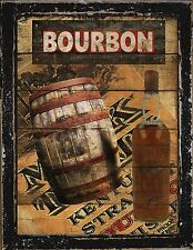 Primitive French Country Home Decor Bar Bourbon Whiskey Barrell Wall Art Sign