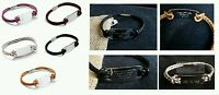 Personalised Mens & Womens Genuine Leather Tribal Steal ID Bracelet - Gift.