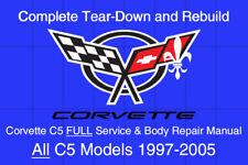 Corvette C-5 1997 - 2005 Service Repair Workshop Manual Maintenance GM DVD-ROM