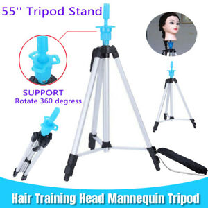 """55"""" Adjustable Stainless Steel Tripod Stand Hair Training Head Mannequin Holder"""