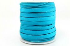 "Deerskin Deer Leather Lace Spool Roll 3/16"" 5Mm 50 Ft Lacing Cord Caribbean Blue"