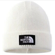 The North Face Beanie Hat Off White Colour Outdoor Warm Stretch Knitted Hat