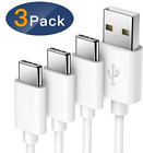 3Pack USB C Type-C Fast Charging Data Sync Charger Cable For Samsung Galaxy S10e