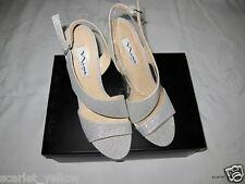 New in box NINA silver wonderla Consula –YF Dress Sandal Heel Shoes – 7M
