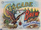 Cascade Brew Prohibition Era Beverage New Metal Sign: San Francisco, California
