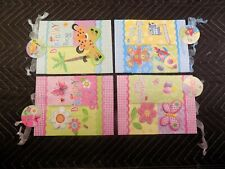 New Assorted Gift Bags 3D Glitter Lot Of 8