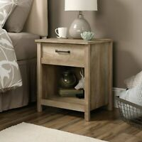 Rustic Farmhouse Nightstand Bed Side End Table Lamp Stand Bedroom Oak Finish NEW