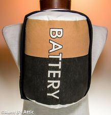 Battery Novelty Costume Accessory Elastic Strap On Foam Filled Fabric Prop