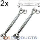 2x 6mm Stainless Steel Rigging Screw Closed Body Jaw/Jaw Turnbuckle FREE P+P