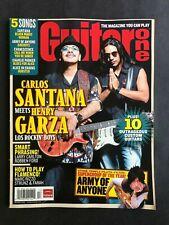 Guitar One Magazine Holiday 2006 Carlos Santana and Henry Garza  No ML